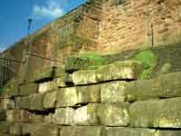 part of the original wall of the Roman quay in Deva or Chester