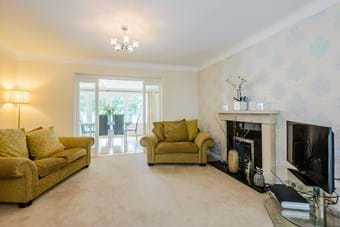 large sitting room in family house