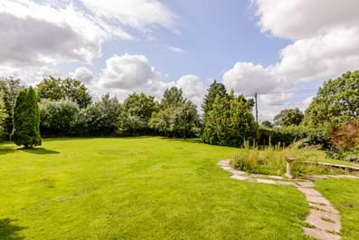 the garden at Long Acre detached house for sale Cheshire