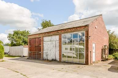 An outbuilding with potential for conversion
