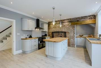 contemporary kitchen in period townhouse