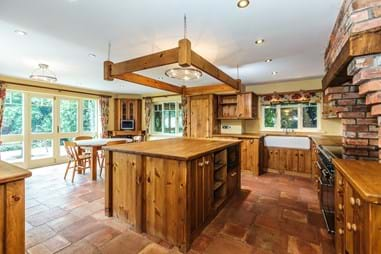 kitchen in a detached house for sale near Kelsall