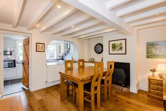 Dining room in a detached cottage for sale in Churton