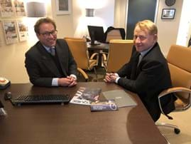 Tim Rickitt from Chester estate agents Rickitt Partnership and Bob Bickersteth from The London Office