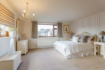 master bedroom in a detached family house for sale with estate agent Chester Rickitt Partnership