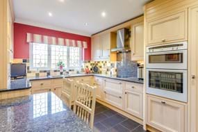 a kitchen in a detached house for sale with Rickitt partnership Chester estate agency