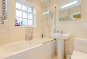A bathroom in a modern town house in Chester for sale with Rickitt Partnership Chester estate agents