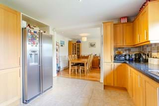 A modern kitchen in a detached family house for sale with Chester estate agency Rickitt Partnership
