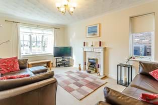 A drawing room in a modern family house for sale in Rossett with Chester estate agent Rickitt Partnership