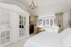 A bedroom decorated in neutral hues for sale with Rickitt Partnership Chester estate agency