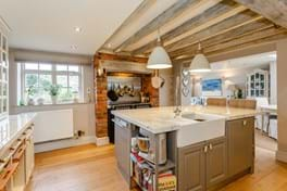 a kcountry style kitchen in a detached period house for sale with Chester estate agency Rickitt Partnership