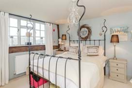 a bedroom in a detached period house for sale with Rickitt partnership Chester estate agents