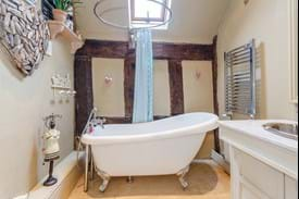 a free standing bath in a period house for sale with Chester estate agency Rickitt Partnership