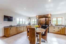 The kitchen in a detached house for sale in Marton with Chester estate agents Rickitt Partnership