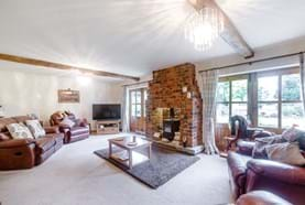 The drawing room in a detached house for sale in Marton with Chester estate agency Rickitt Partnership