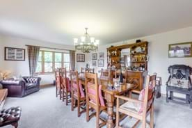 The dining room in a detached house for sale  with estate agent Chester Rickitt Partnership