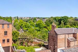 views from a Georgian townhouse for sale with Chester estate agency Rickitt Partnership