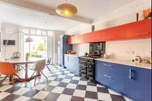 a kitchen in a Georgian townhouse for sale with Chester estate agency Rickitt Partnership