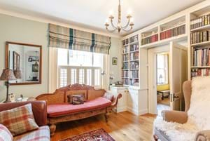 sitting room in a Georgian townhouse for sale with Chester estate agent Rickitt  Partnership