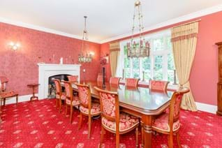 A dining room in a Victorian house for sale with Rickitt Partnership Chester estate agent