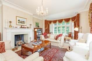 A drawing room in a detached Victorian house for sale in Cheshire with Chester estate agent Rickitt Partnership