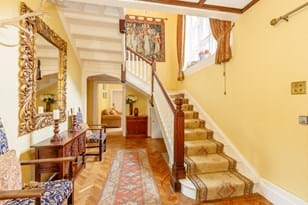 A hallway in a Victorian 6 bedroom detached house for sale with Chester estate agency Rickitt Partnership