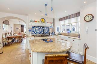 a kitchen in a Victorian detached house for sale in Cheshire with Chester estate agency Rickitt Partnership