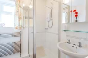 shower room in a bungalow for sale in Malpas