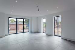 an openplan living area in a new build house for sale near Chester