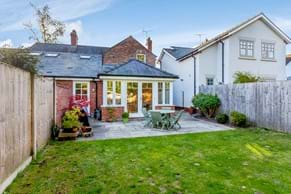 The garden and terrace at a semi-detached house for sale with Rickitt Partnership Chester estate agents
