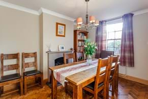 The dining room in a semi-detached house for sale in Holt with Chester estate agent Rickitt Partnership