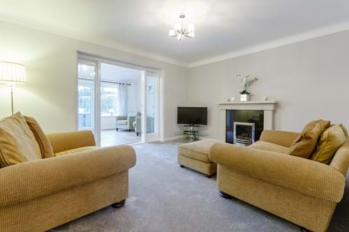 the sitting room in a detached house for sale in Chester