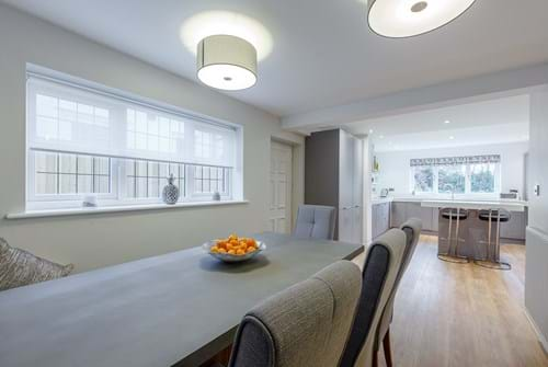 the open plan kitchen diner in a house for sale in Chester