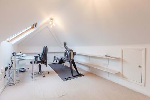the home gym in a house for sale with Rickitt Partnership