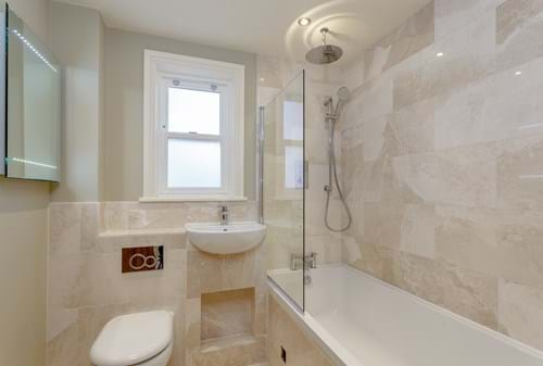 the bathroom in a semi-detached house for sale in Waverton