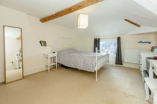 a bedroom with a cottage type feel in a Georgian house for sale in Farndon