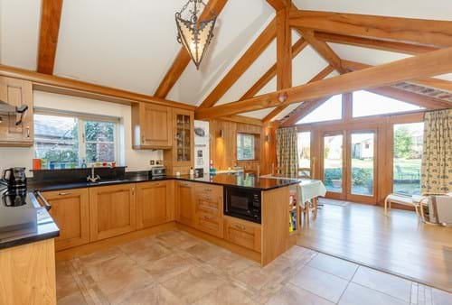 the open plan kitchen diner in a period house for sale in farndon