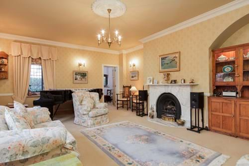the drawing room in a house for sale in Waverton near Chester