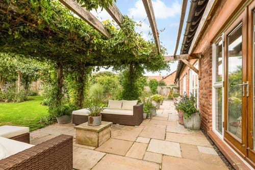 the patio area at a house for sale in Poulton