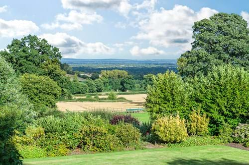 View over the Cheshire plains from a Georgian house for sale with Chester estate agent Rickitt Partnership