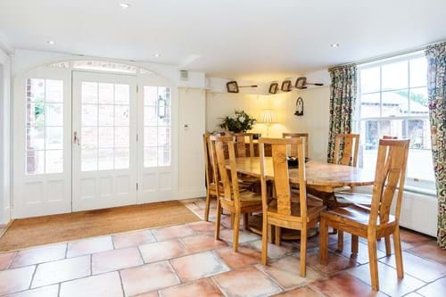 The breakfast room in a Georgian house for sale with Rickitt Partnership estate agency in Chester
