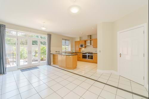 the open plan kitchen dining area in a detached house for sale in Chester