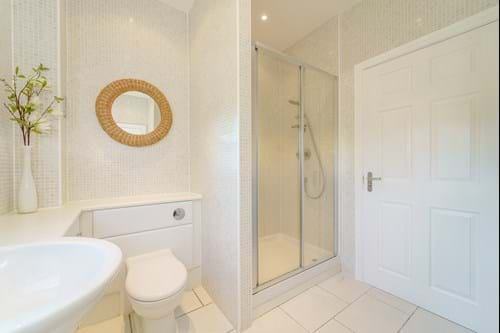 the shower room in a house for sale in Chester with Chester estate agent Rickitt Partnership