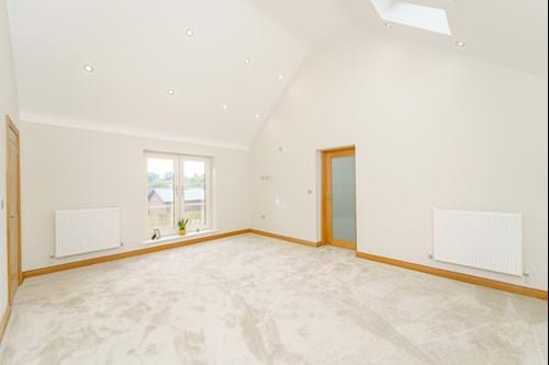 a bedroom in a new build house for sale in Bunbury Heath