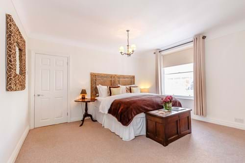 a bedroom in a Georgian townhouse for sale with Chester estate agent Rickitt Partnership
