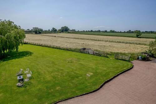 The garden and paddocks totalling 6.5 acres at a house for sale in Hargrave