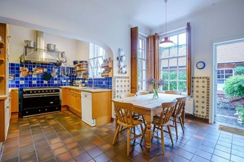 The kitchen in a period house for sale with Rickitt Partnership estate agency in Chester