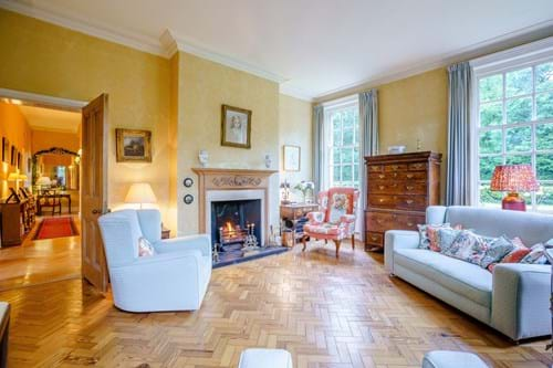 The drawing room in a period house for sale with Chester estate agency Rickitt Partnership