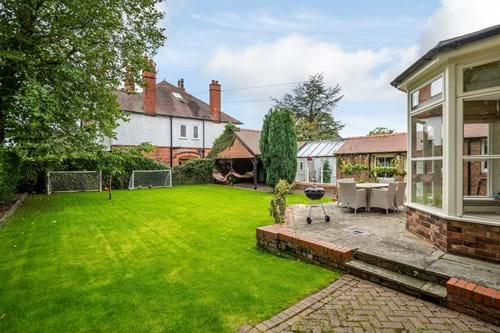 the garden at a house for sale in Chester
