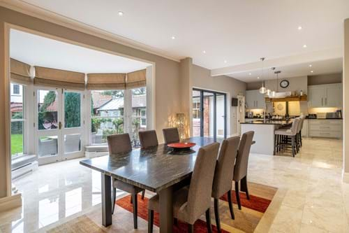 open plan kitchen dining room in a house for sale in a 5 bedroom house for sale in Chester